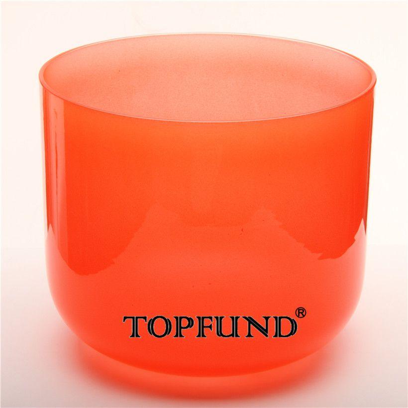 TOPFUND Rot Farbe Klar C # + 10 Hinweis Adrenals Chakra Quarz Kristall Singen Schüssel 11 ''Mit Freies Mallet und O-Ring