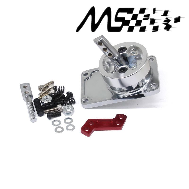 Stormcar ALUMINUM RACING SHORT THROW SHIFTER FOR 83-04 FORD MUSTANG T5 T-45 W/OD silver
