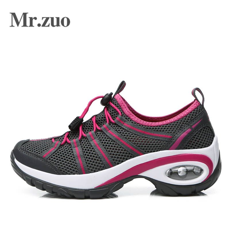 Marque Femmes Sneakers Chaussures D'été 2017 Chaussures Femme Escalade Chaussures de Randonnée En Plein Air Trekking Grandes Tailles Étanche Sport Chaussures