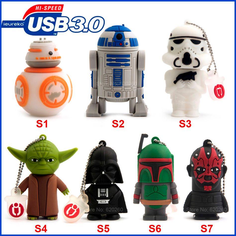USB3.0 Pen drive 64 GB! USB3.0 Pen drive Star wars 8 GB/16 GB/32 GB usb flash drive 64 gb, flash memory stick pendrive Livraison gratuite!