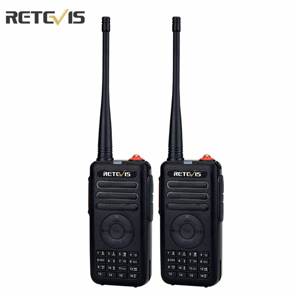 2 pcs Dual PTT 5W Retevis RT25 Walkie Talkie UHF400-470MHz 16CH Scramble Quick Charge VOX 1750Hz Portable Two Way Radio A9124A