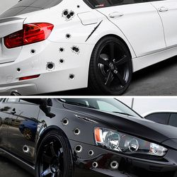 Car Side Stickers Funny Decal Car-covers Accessories Graphics Auto Motorcycle Decoration Sticker 3D Bullet Hole Car Styling