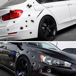 Side Car Autocollants Drôle de Voiture De Décalque-couvre Accessoires Graphiques Auto Moto Décoration Autocollant 3D Bullet Trou Car Styling