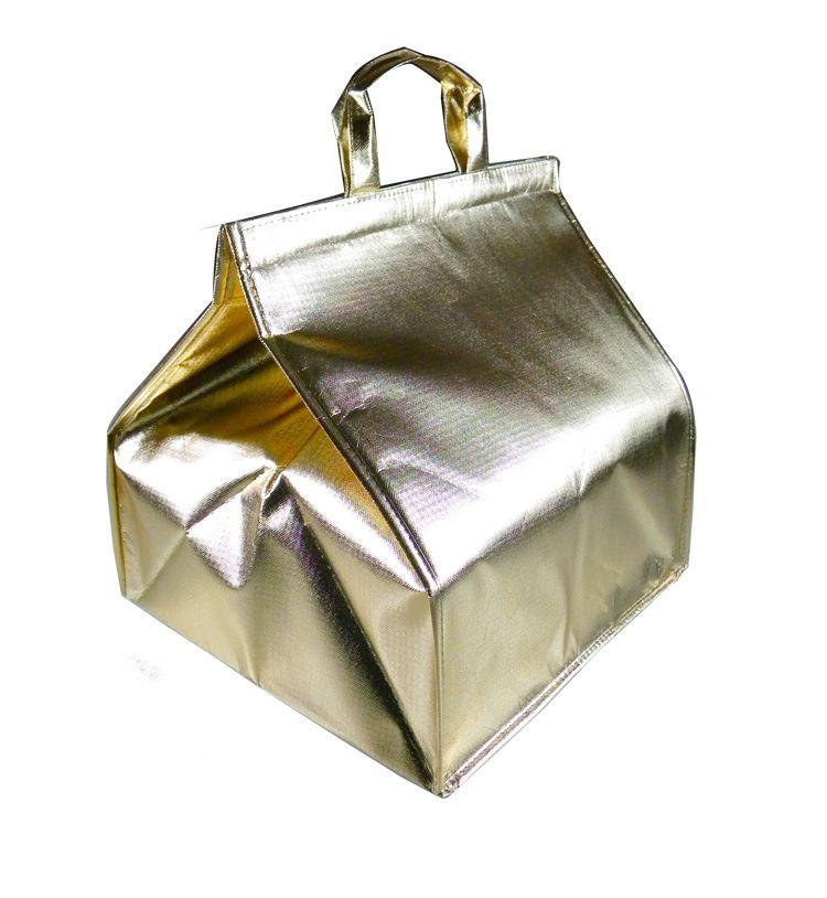 Pas cher facile carring sac à pizza thermique 8 ''/10''/12 pouces gâteau cadeau isolé champagne protégé sac
