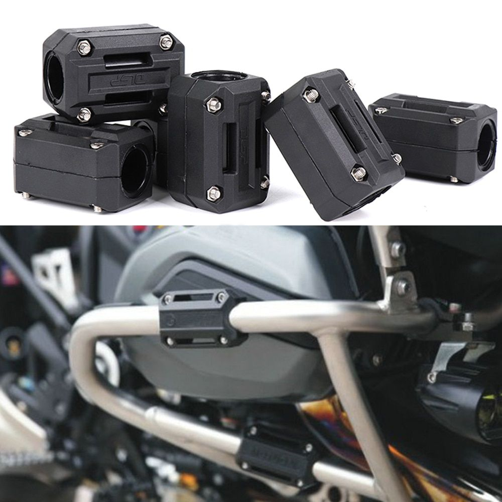 Motorcycle Engine Guard Bumper Protection Decorative Block 25mm Crash Bar for BMW R1200GS LC ADV For HONDA CRF1000L For SUZUKI