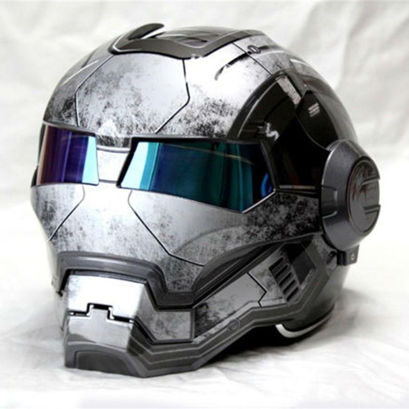 Новый серый Masei IRONMAN железный человек шлем мотоциклетный шлем ретро Половина шлем с открытым лицом шлем 610 ABS шлем мотокросс