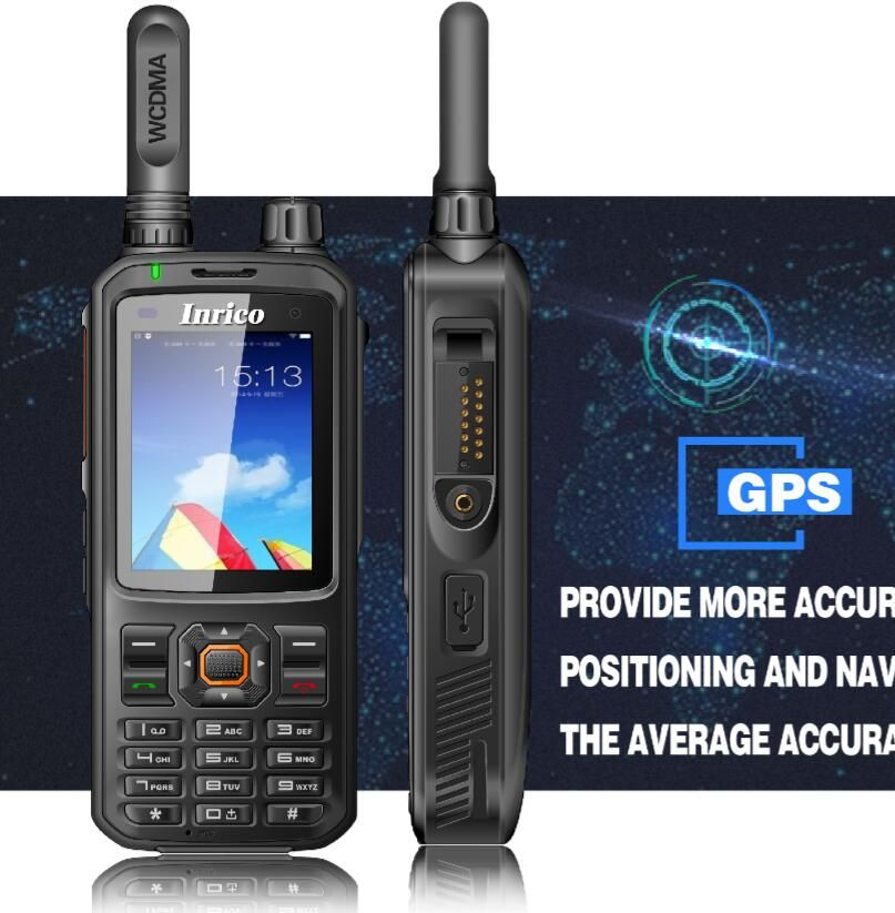 Inrico portable public network wifi walkie talkie radio 4000mAh battery touch screen SIM card WCDMA GSM 3G Trunking transceiver