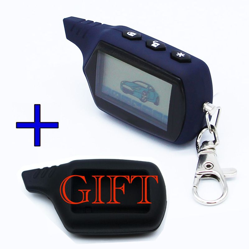 Starline A91 LCD Remote Controller Keychain Key Fob Chain Compatible with Vehicle Security Two way Car Alarm System Starline A91
