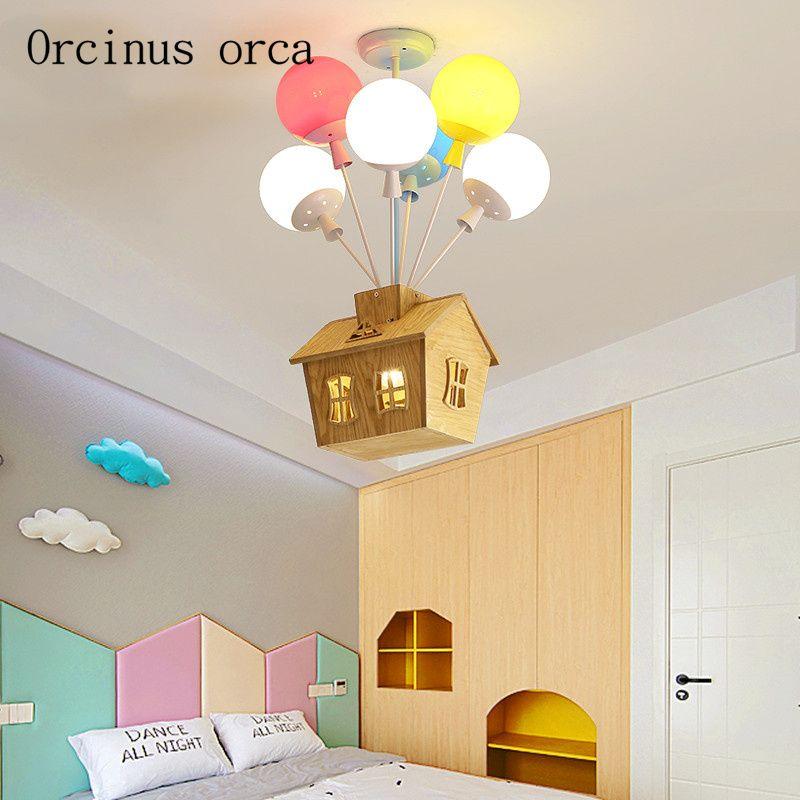 Cartoon kreative farbe hot-air ballon anhänger lampe Junge Mädchen Schlafzimmer kinder zimmer lampe moderne LED haus anhänger lampe
