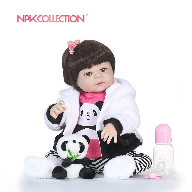 NPK boneca reborn silicone completa Full Vinyl Silicone Reborn Baby Doll Toys Lifelike Child Birthday Xmas Gift