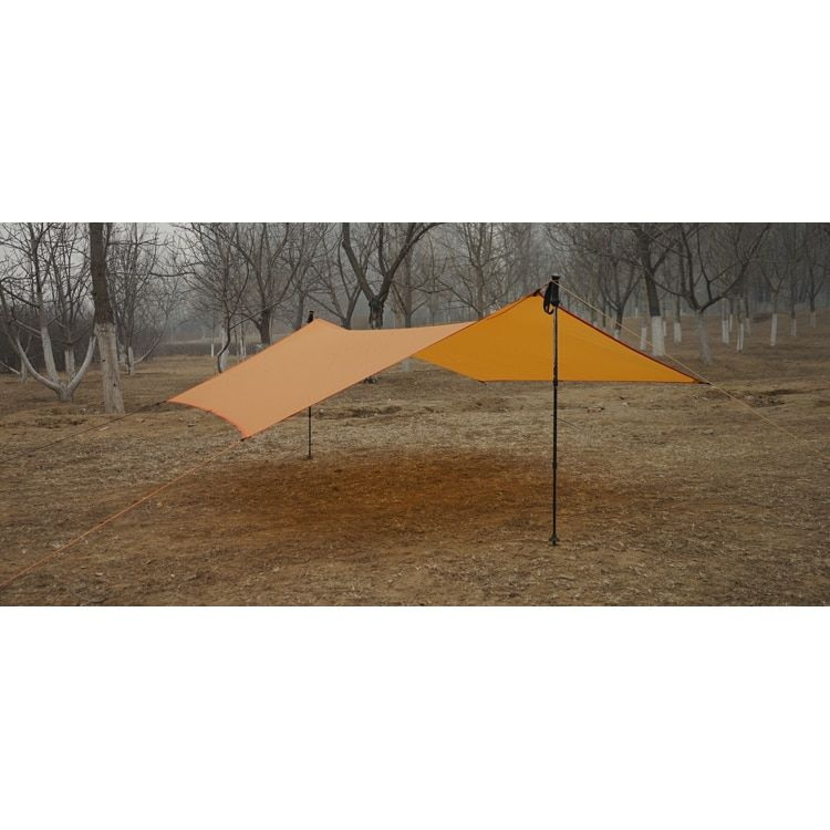 450G 20D Double-Sided Silicon Tarpe Ultralight Sun Shelter Beach Tent Pergola Awning Canopy Taffeta Tarp Camping Sunshelter