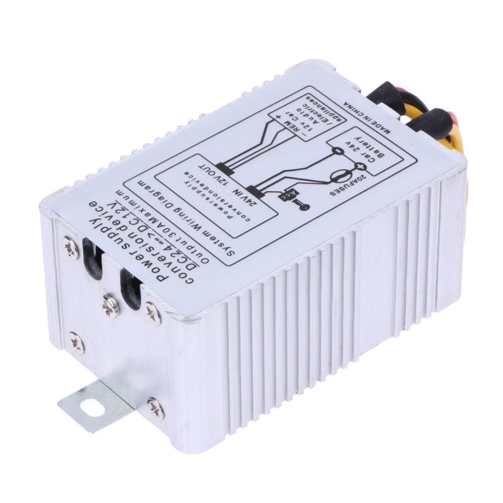 24V to 12V DC-DC Car Power Supply Inverter Converter Conversion Device Output 5A Max Auto Car Accessories Tools