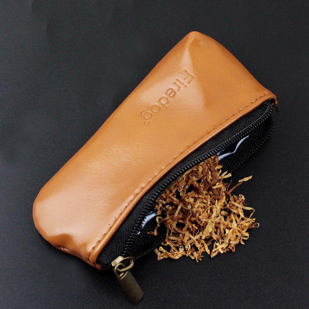 CHENETS Durable Zipper Cigarette Portable Pipe Blague à tabac Cas Sac Titulaire