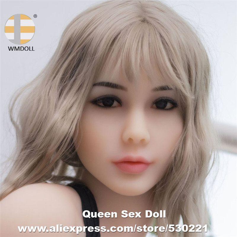WMDOLL Top Qualität #70 Echt Erwachsene Puppe Köpfe für TPE Sex Puppen Realistische Silikon Liebe Puppe Kopf Fit 140 to172cm Körper Oral Sexy
