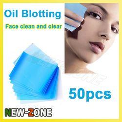 Facial aceite papel secante Cara aceite absorbente hoja película de control de aceite Cara claro y limpio 50 unids