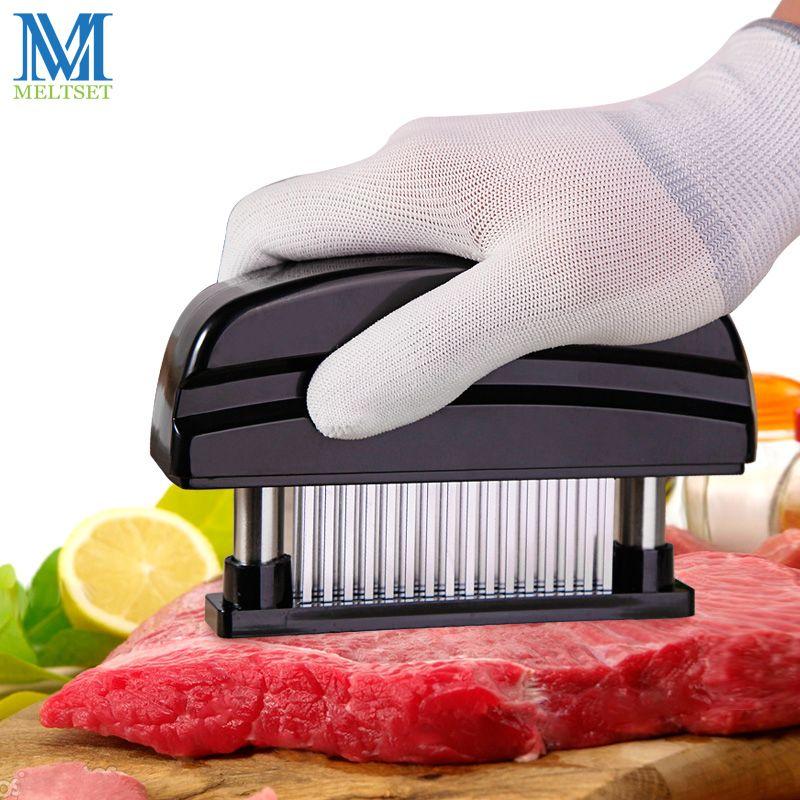 Professionnel 48 pièces Aiguilles acier inoxydable attendrisseur de viande Cuisine ustensiles de cuisine Tendre marteau à viande