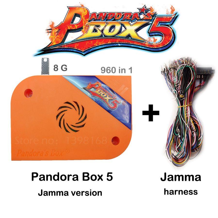 Jamma Version Pandora Box 5 960 in 1 Arcade Version Orange Jamma Multi Spielbrett HDMI/VGA Ausgang HD 720 P Arcade Maschine Schrank