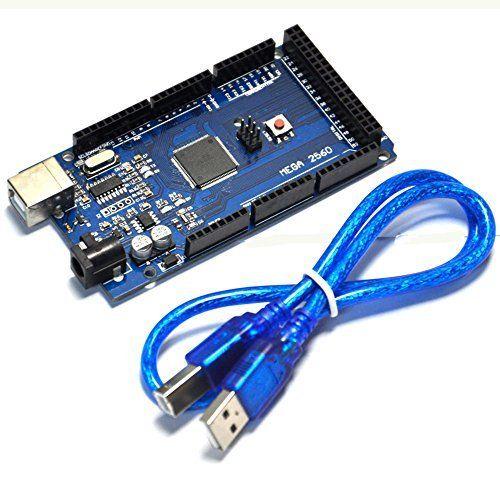 Mega 2560 R3 Mega2560 REV3 (ATmega2560-16AU CH340G) Conseil SUR Câble USB Compatible pour Arduino Avec USB Câble