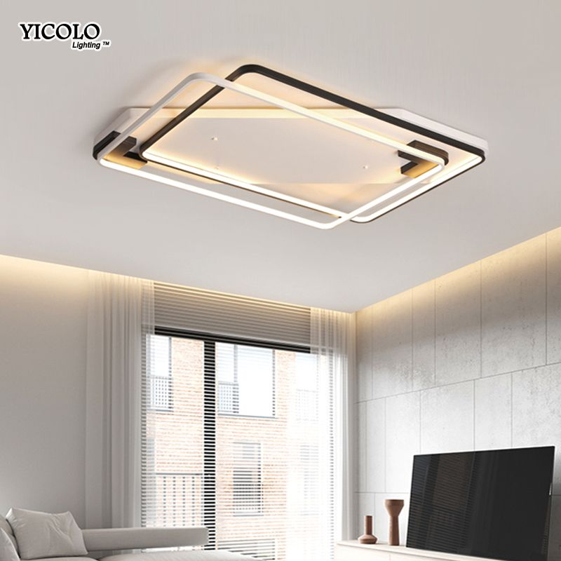 Dimming Led Ceiling Lights rectangle square shape For Living Room Bedroom Light Fixtures lamparas de techo abajur Home lamps