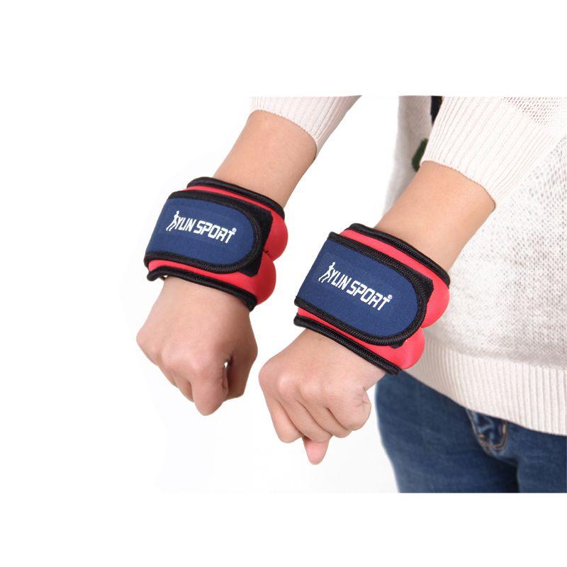 A pair of Family Fitness Leggings Wrist Load Running Sandbags Adjustable Invisible Iron Sandbags