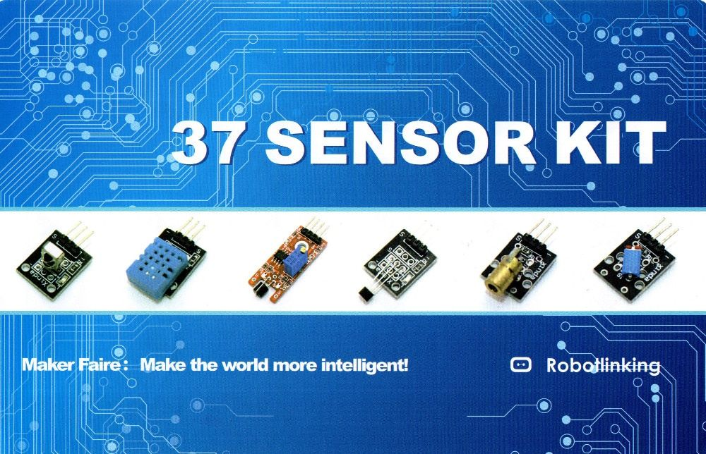 37 IN 1 SENSOR KITS FOR ARDUINO HIGH-QUALITY FREE SHIPPING (<font><b>Works</b></font> with Official for Arduino Boards)