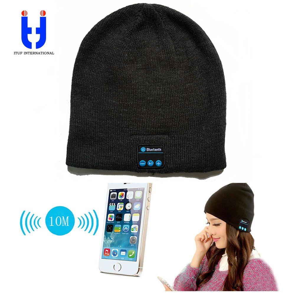 Hot Men Women Bluetooth Music Hats Wireless Beanie Hat Headphone Headset Speaker Mini Wireless Audio Cap Exquisite Packaging