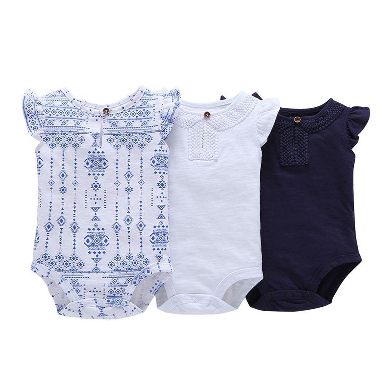 Barboteuse de bébé Filles De Mode D'été Sans Manches Top Qualité One Piece Coton Vêtements Nouveau-Né Bébé Filles Vêtements Livraison Gratuite