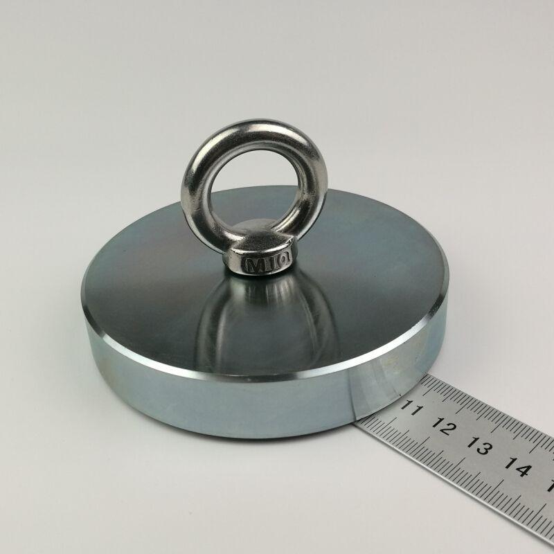 1 stücke 600 KG vertikale pull-kraft starke neodym angeln magnet mit ringschraube super leistungsstarke abrufen magnet metalldetektor