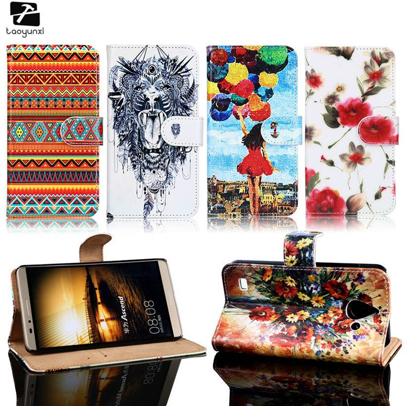 TAOYUNXI Phone Cover Case For Huawei Ascend Y550 Y600 Y625 G510 G520 G620 Y550-L02 Y550-L03 C8815 PU Leather Bag Case Cover