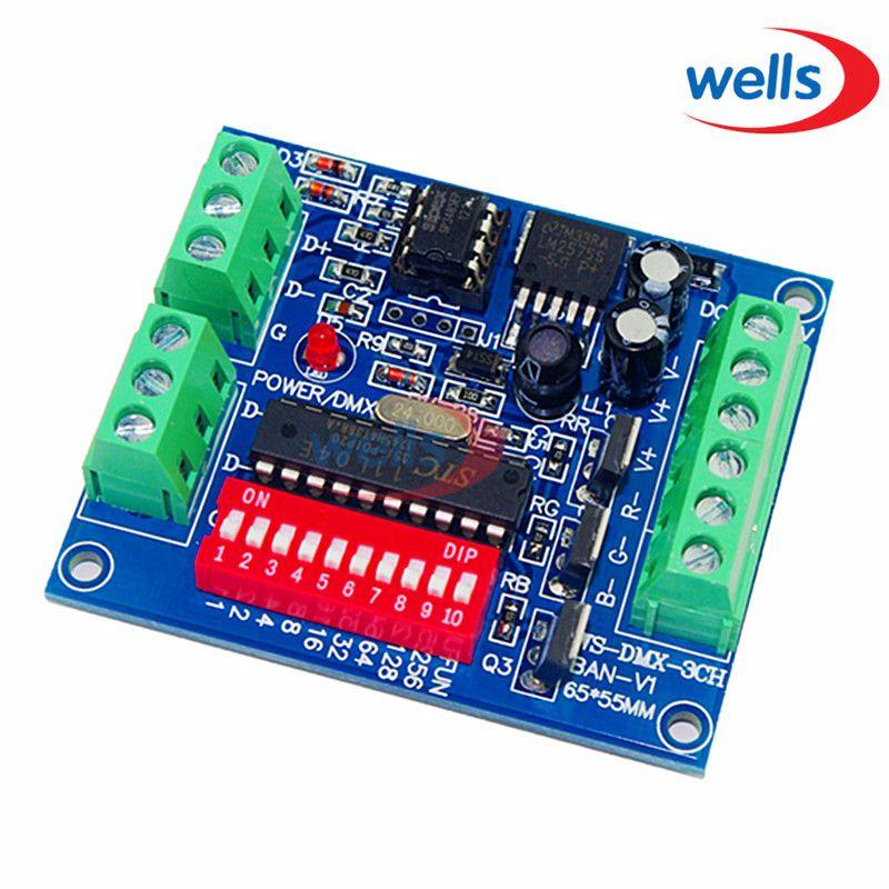 DMX512 3CH 4CH 6CH 8CH 12CH 18CH 24CH 27CH, LED de contrôle de tension Constante anode Commune Décodeur Contrôleur de Gradateur, 5 ~ 24 V