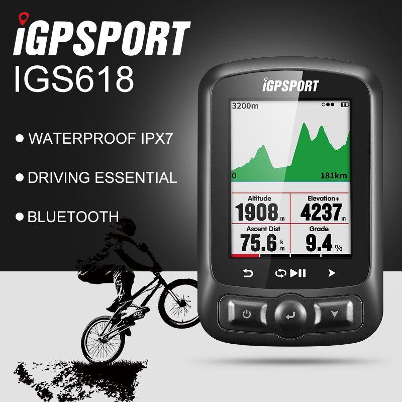 IGPSPORT ANT+ GPS IGS618 Bike Bicycle Bluetooth Wireless Stopwatch Speedometer Waterproof IPX7 Cycling Bike Speedometer Computer