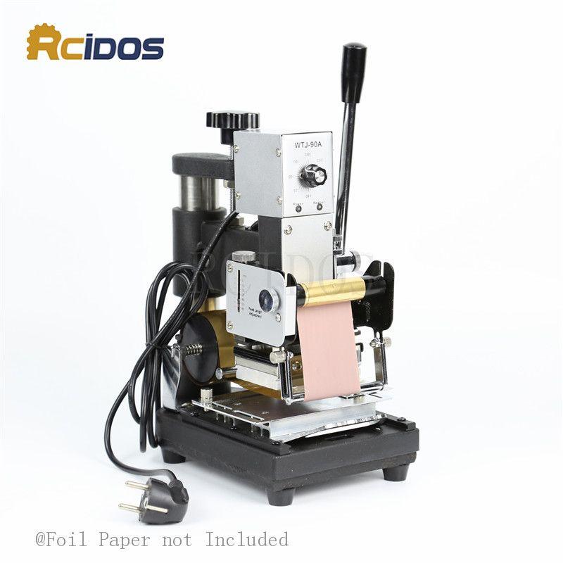 WTJ-90A Manual Plastic card Stamping Machine,RCIDOS hot foil stamping machine,PVC/name card bronzing machine(6X9cm)