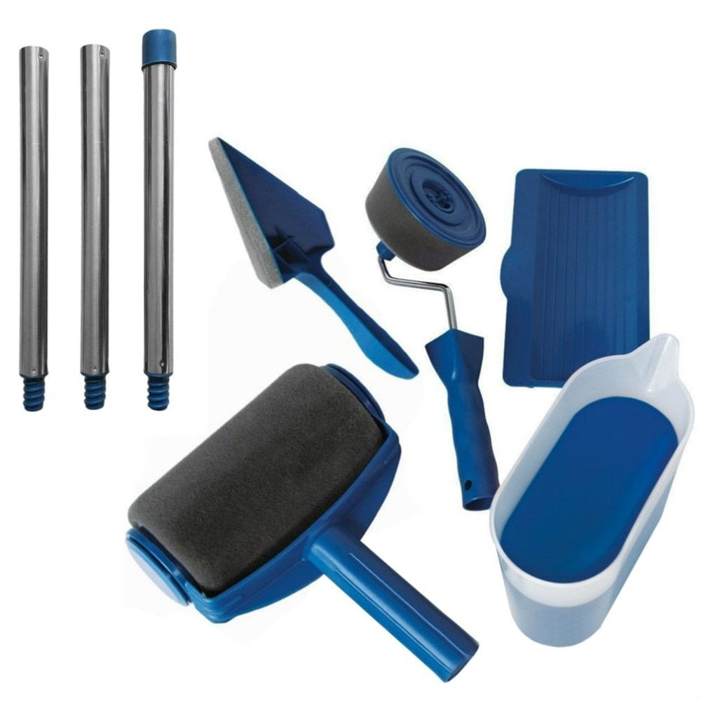 Paint Runner Roller Pro rollers wall painting kit walls Brush Handle Tool Set Edger Room Home Garden + extension pole Tube DIY