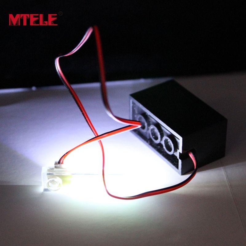 MTELE бренд светодио дный 1*4 Светодиодный свет комплект игрушки с силовой коробкой для набор кирпичей Модели Строительные блоки DIY Kit игрушки с...