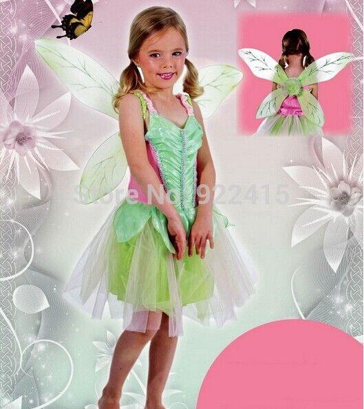 2018 Nouveau enfants Carnaval Vêtements bébé filles carnaval arc-en-Robe Cosplay Costume Party Robe Tinker Bell Princesse Robe Costume