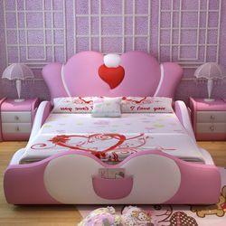 2017 Modern home furniture  bed for bedroom sets solid wood bed frame leather bed