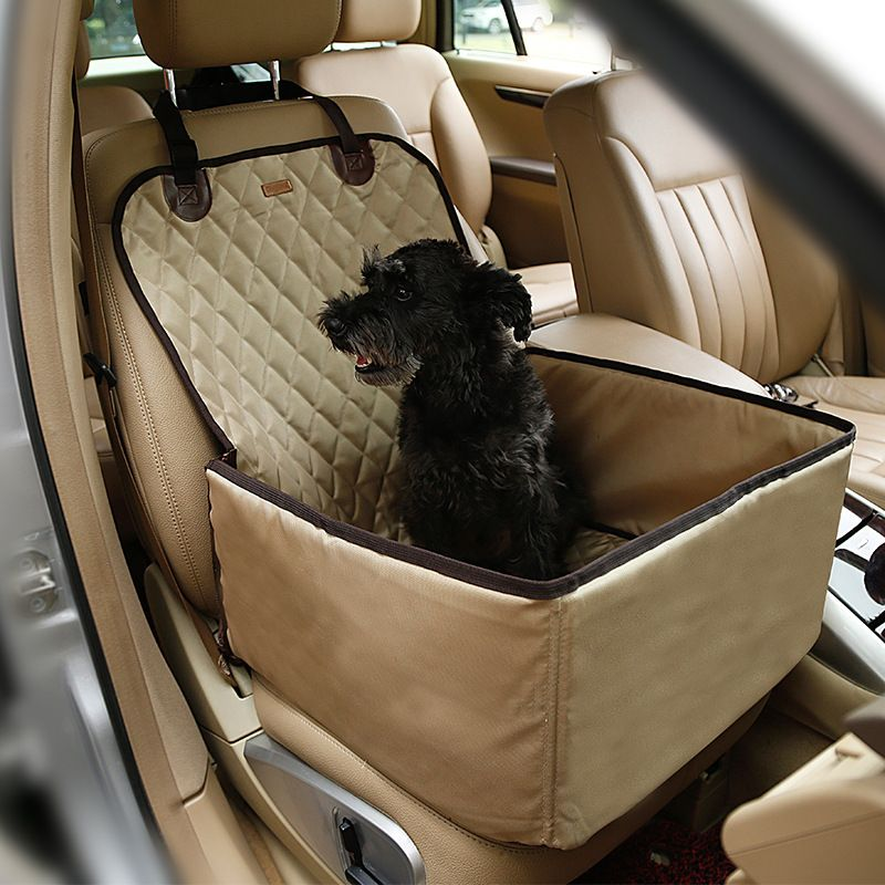 Portable pet dog waterproof dog bag pet car carrier dog carry storage bag pet booster seat cover for travel 2 in1 carrier buckle