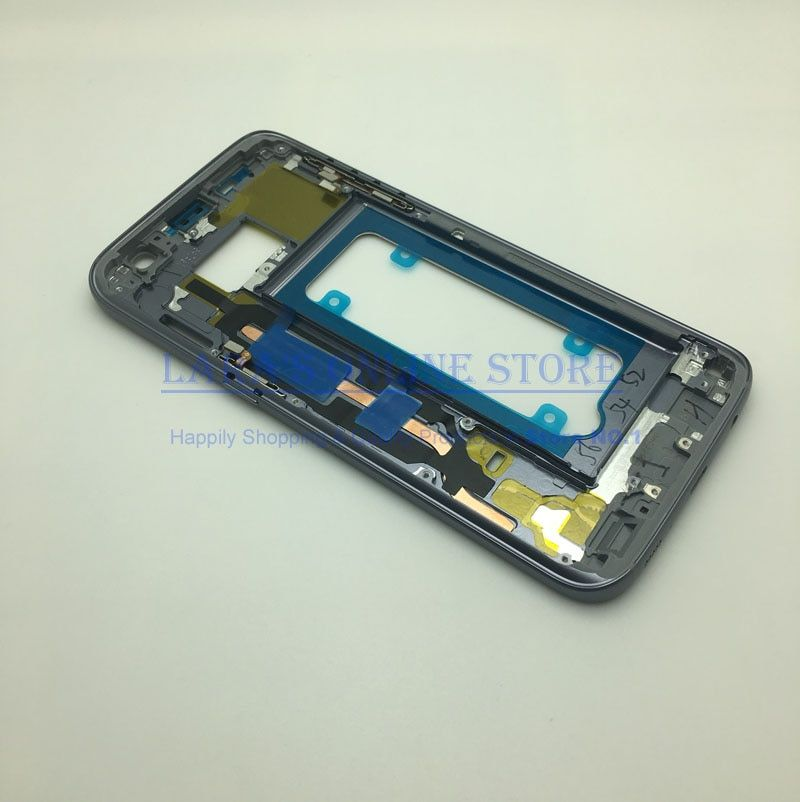 Middle Frame For Samsung Galaxy S7 G930 S7 Edge G935 Mid Bezel Metal Frame Housing Chassis with Side Key Replacement Parts