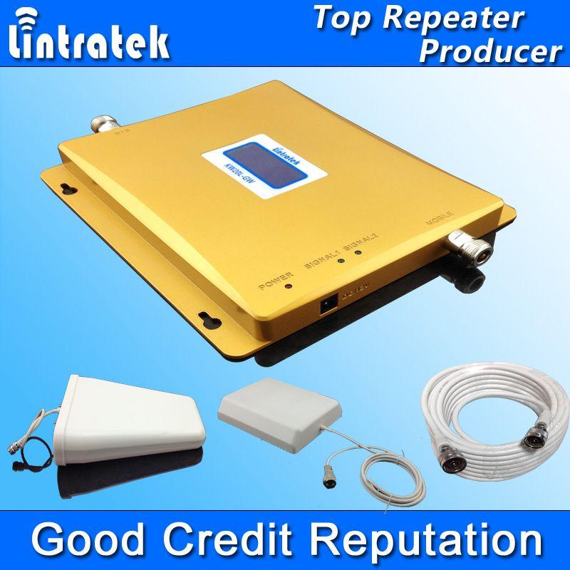 CHAUDE LCD Affichage 3G W-CDMA 2100 MHz GSM 900 Mhz Double Bande Cellulaire téléphone Signal Booster GSM 900 2100 UMTS Signal Répéteur Amplificateur #45