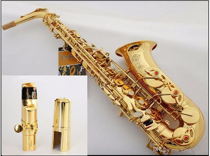 New High-quality Hot sale Saxophone Alto engraved brass SELMER 802 Model saxofone Gold Sax musical instruments professional sax