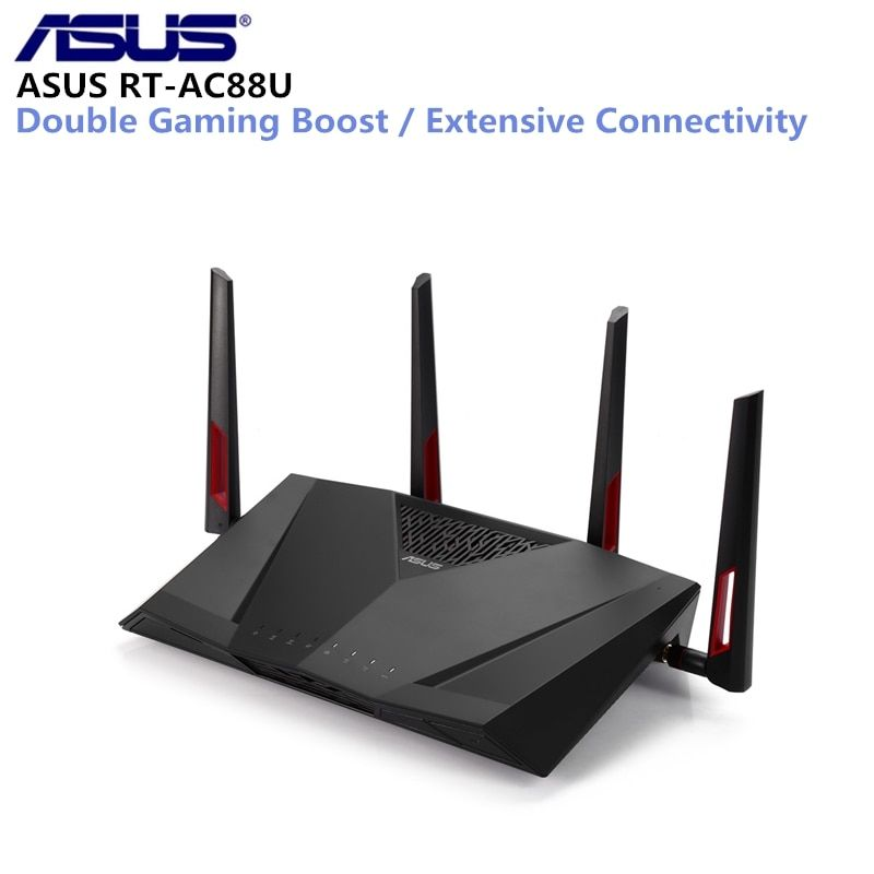 ASUS RT-AC88U Wireless Router MIMO Technology Dual Band Network WiFi Repeater 1800Mbps Support VPN IEEE 802.11n/g/b/a