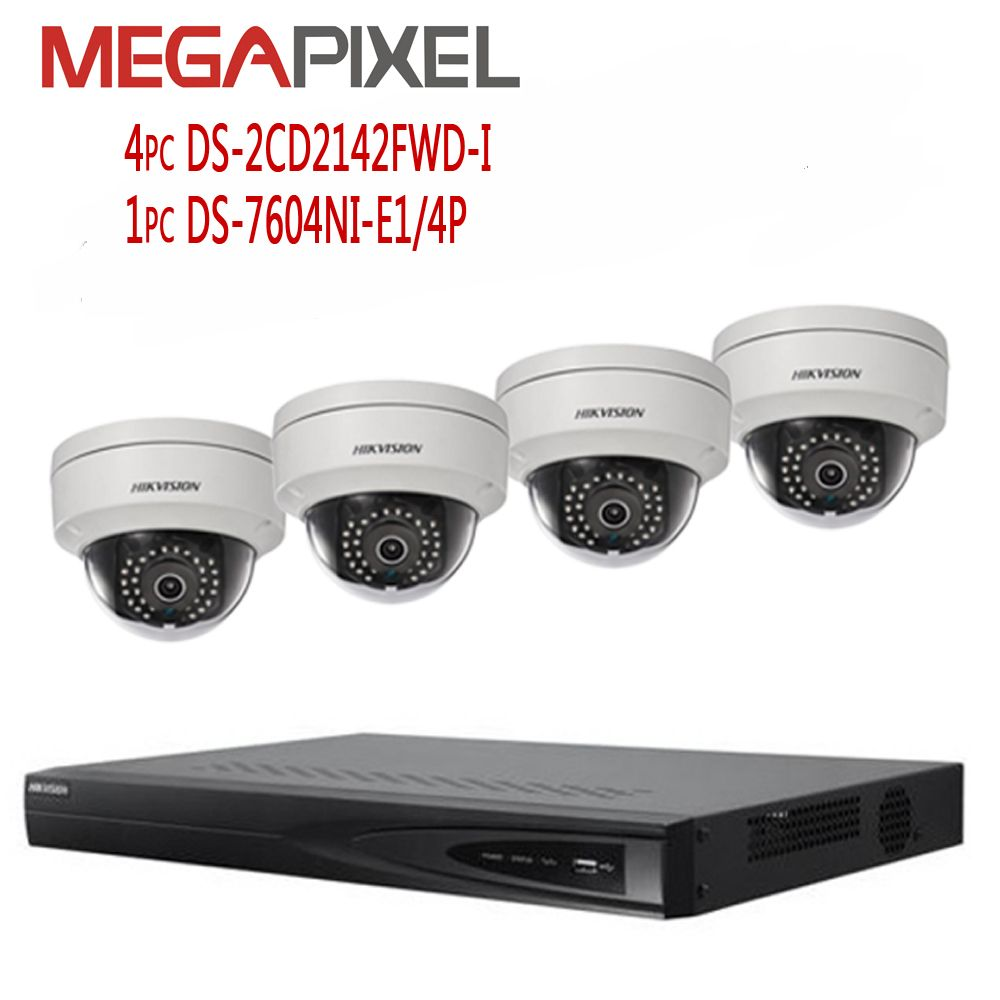kit camera hikvision 4mp Network video Surveillance Security System DVR NVR ip camera
