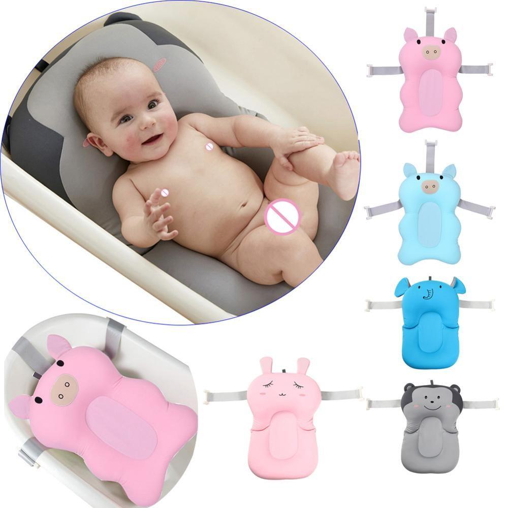 Dessin animé bébé douche baignoire antidérapant pliable bébé baignoire Pad nouveau-né baignoire siège infantile bain soutien coussin doux oreiller