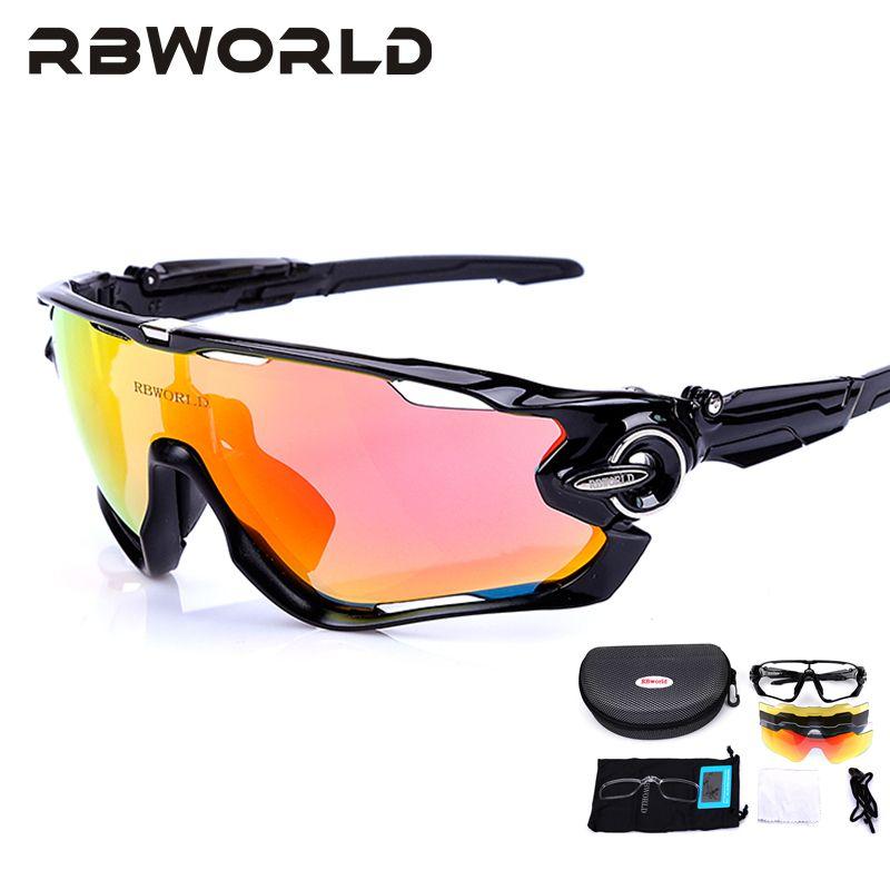 JBR Jaw 4 Pair <font><b>Lens</b></font> Polarized Men MTB Cycling Sunglasses Eyewear Running Sport Bicycle Glasses TR90 Fishing Goggles