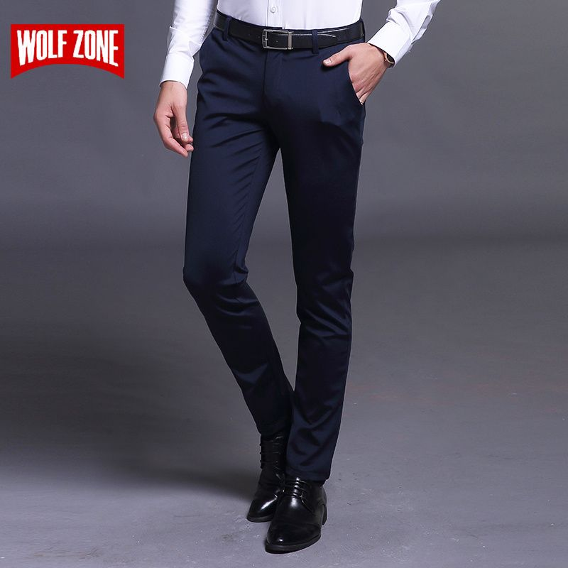 Spring and Summer Casual Pants Men Brand Clothing High Quality Cotton 2017 New Fashion Male Business Trousers Full Length Flat