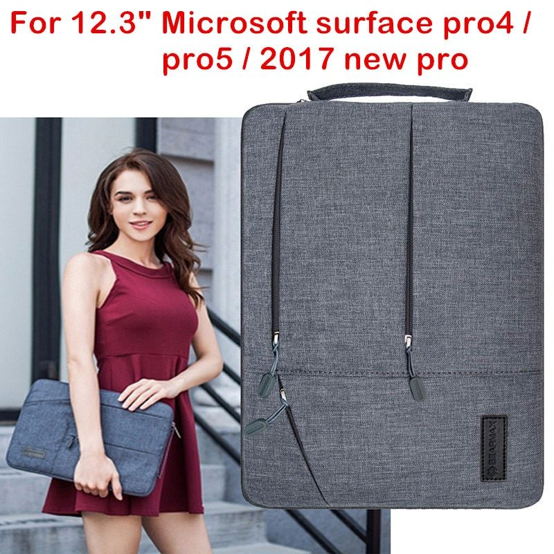 Laptop Sleeve Bag For Microsoft Surface Pro 4 5 2017 New Surface Pro Tablet PC Case Waterproof Hand Holder Pouch Keyboard Cover
