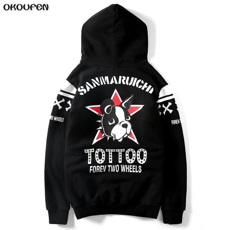 Animal Dog Print Sweatshirt Hoodies Men and Women Hip Hop Funny Autumn Streetwear Hoodies Sweatshirt for Couples Clothes WY34