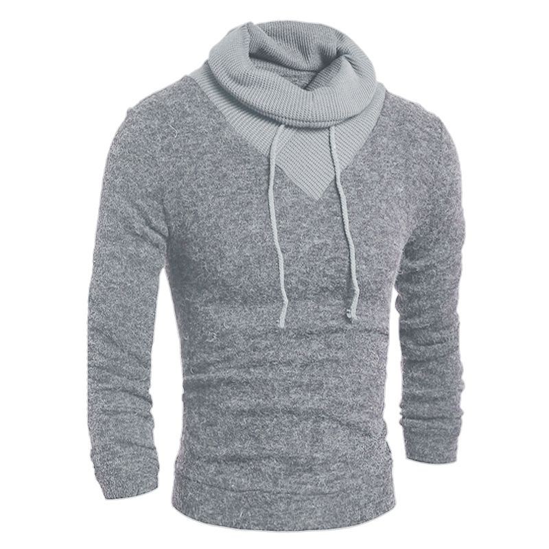 Sweater Pullover Men 2018 Male Brand Casual Slim Sweaters Classic High Collar Simple Solid Color Men Sweater