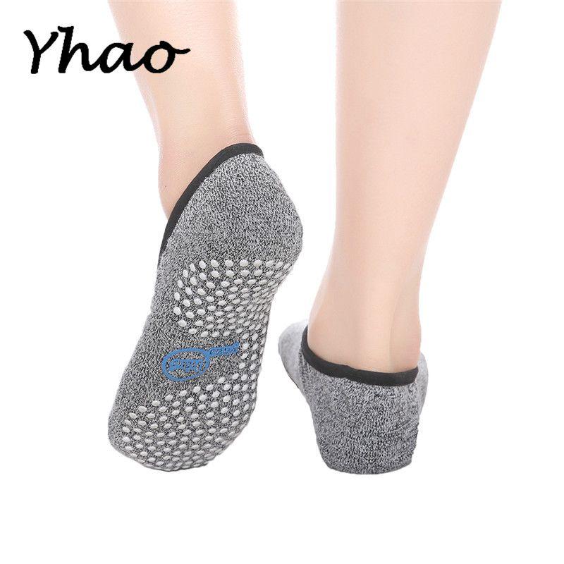 Health concept Good Grip 100% Cotton Yoga Pilates backless Socks Women's Anti-Slip Ankle Grip Damping Bandage Yoga Ballet Socks