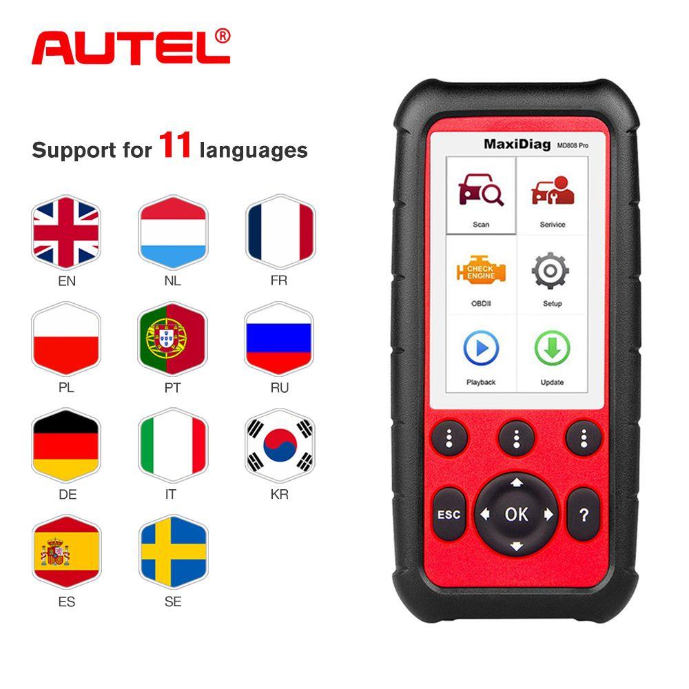 Autel MD808 Pro Alle System OBD2 Scanner Auto Diagnose Werkzeug Kombination von Motor, Übertragung besser als Starten x431
